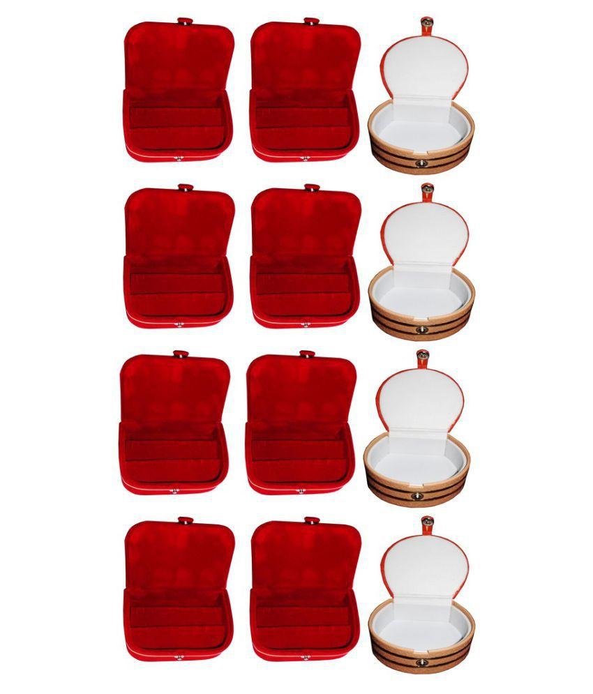 Abhinidi Multicolour Wooden Ring Box - Pack of 12
