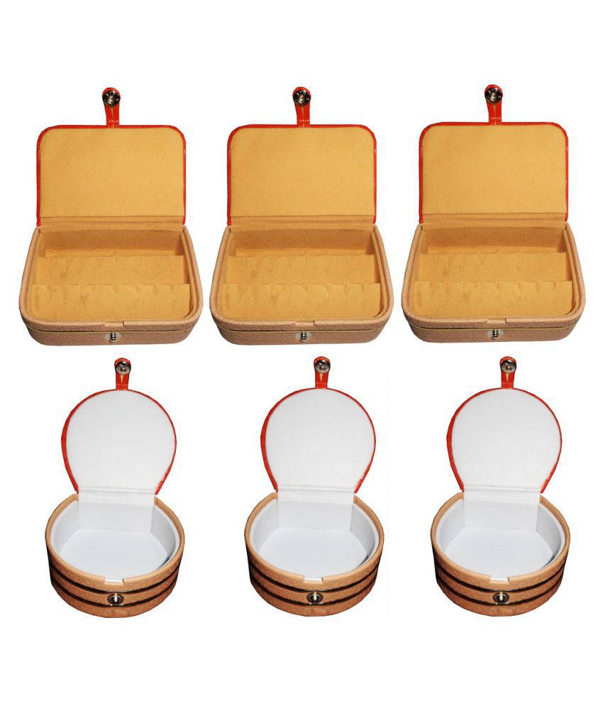 Abhinidi Multicolour Wooden Ring Box - Pack of 6
