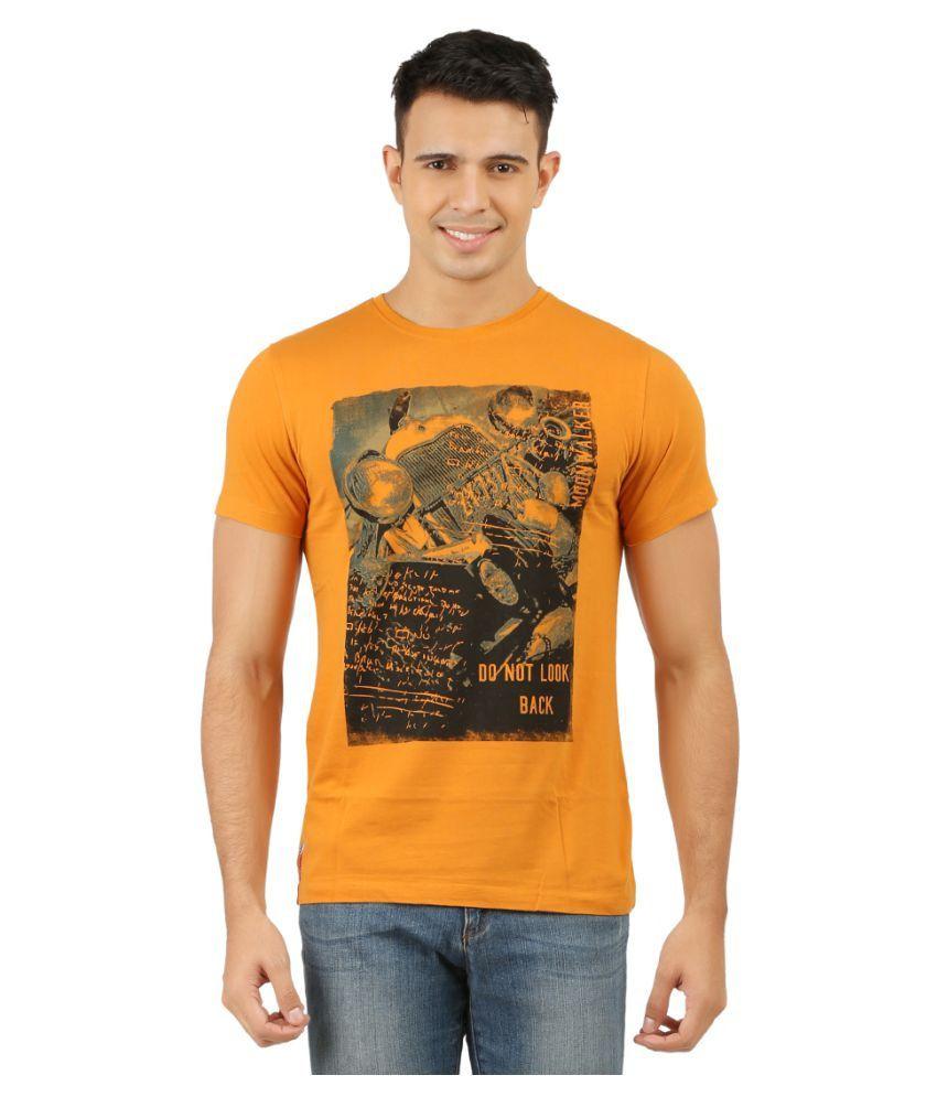 Moonwalker Yellow Round T-Shirt