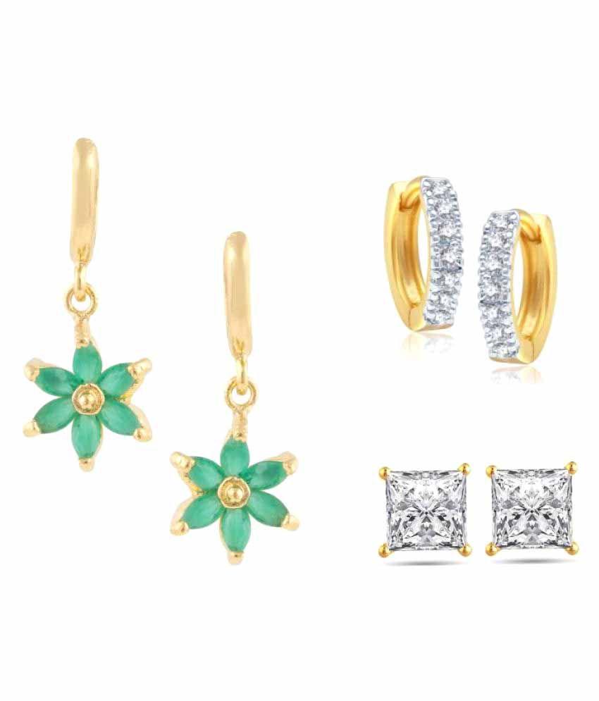 Parinaaz Multicolor Earrings - pair of 3