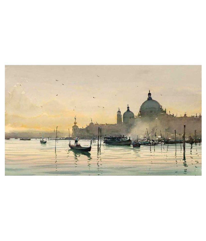 Tallenge A Beautiful Early Morning View Of Venice Canvas Art Prints With Frame Single Piece