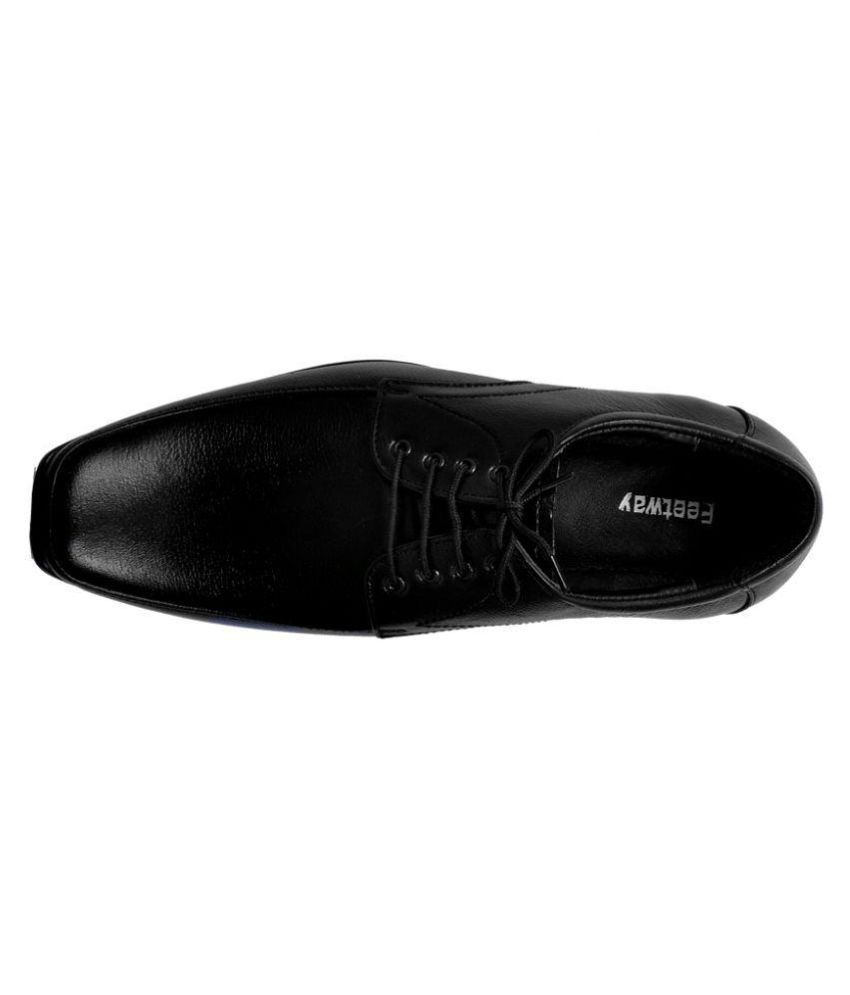 96dcc2d1d25 Feetway Black Derby Genuine Leather Formal Shoes Price in India- Buy ...