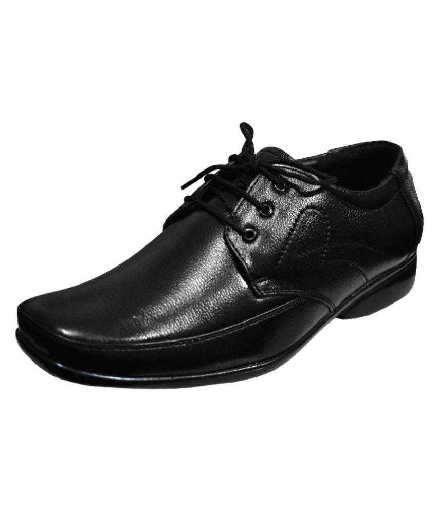 b142881a0a0 Feetway Black Office Genuine Leather Formal Shoes Price in India- Buy Feetway  Black Office Genuine Leather Formal Shoes Online at Snapdeal