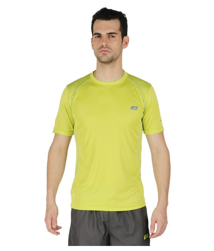 Vector X Green Polyster Round Neck T-Shirt