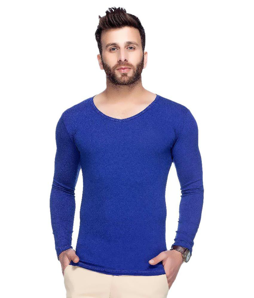 Tinted Blue Round T-Shirt