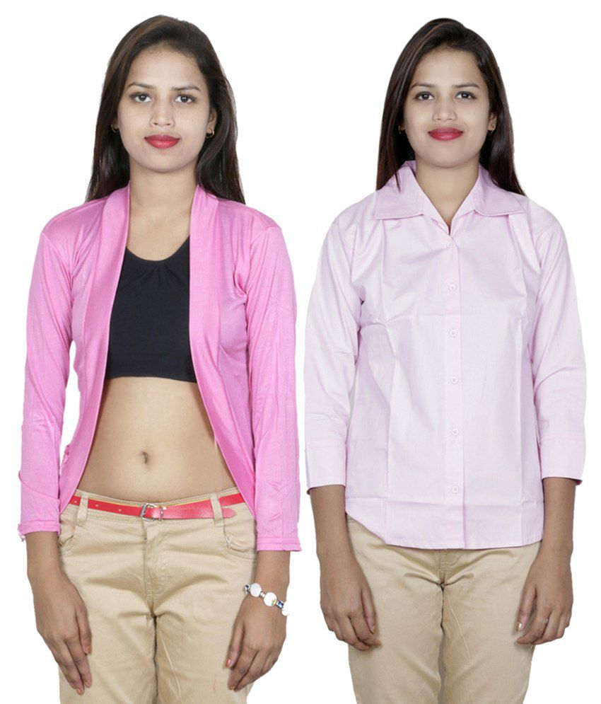IndiWeaves Pink Viscose Shirt