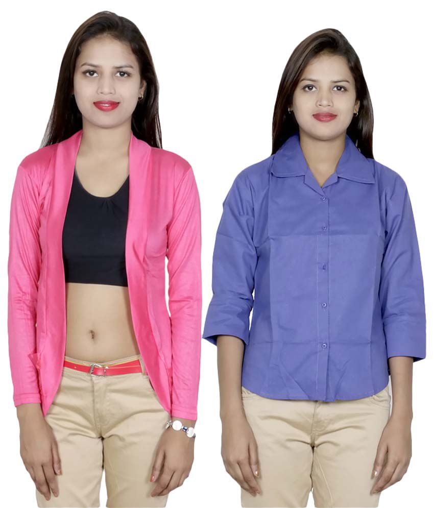 IndiWeaves Multi Color Viscose Shirt
