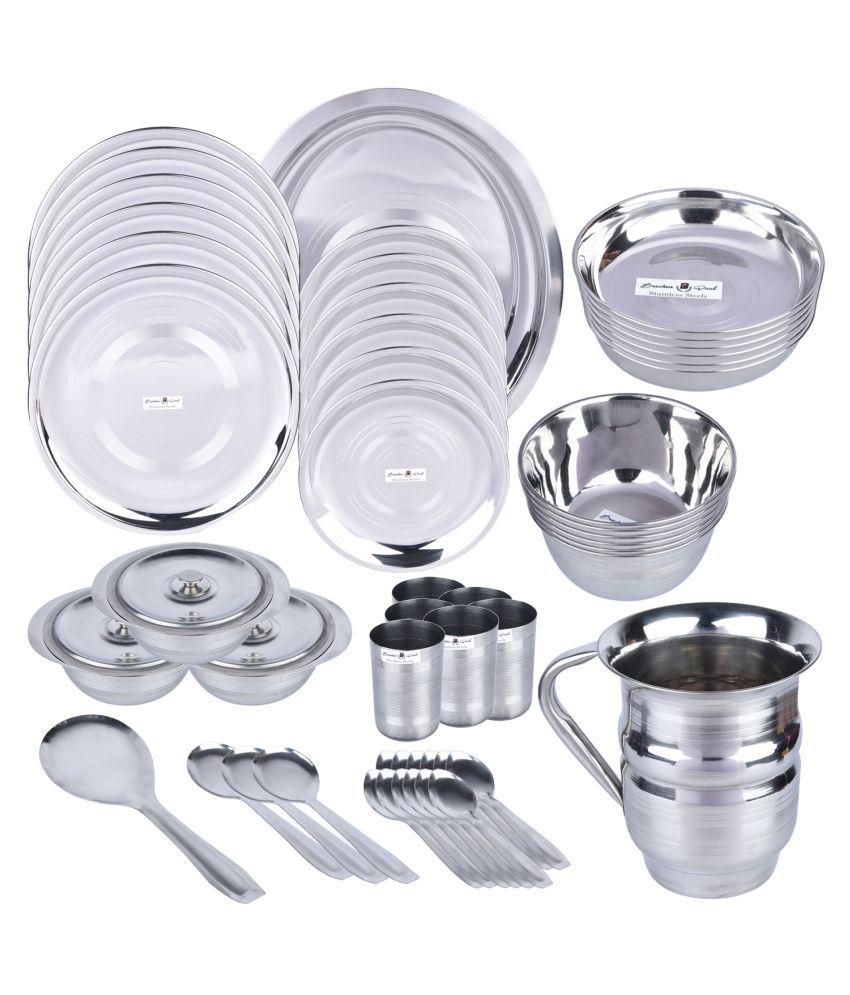 Brecken Paul Stainless Steel Dinner Set 51 Pieces