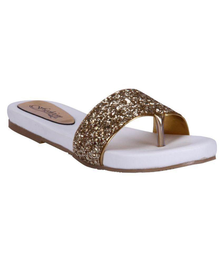 Fashion Mafia Gold Flat Flats