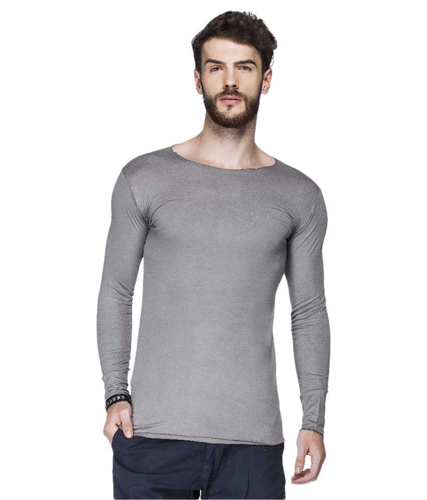 Tinted Grey Round T-Shirt