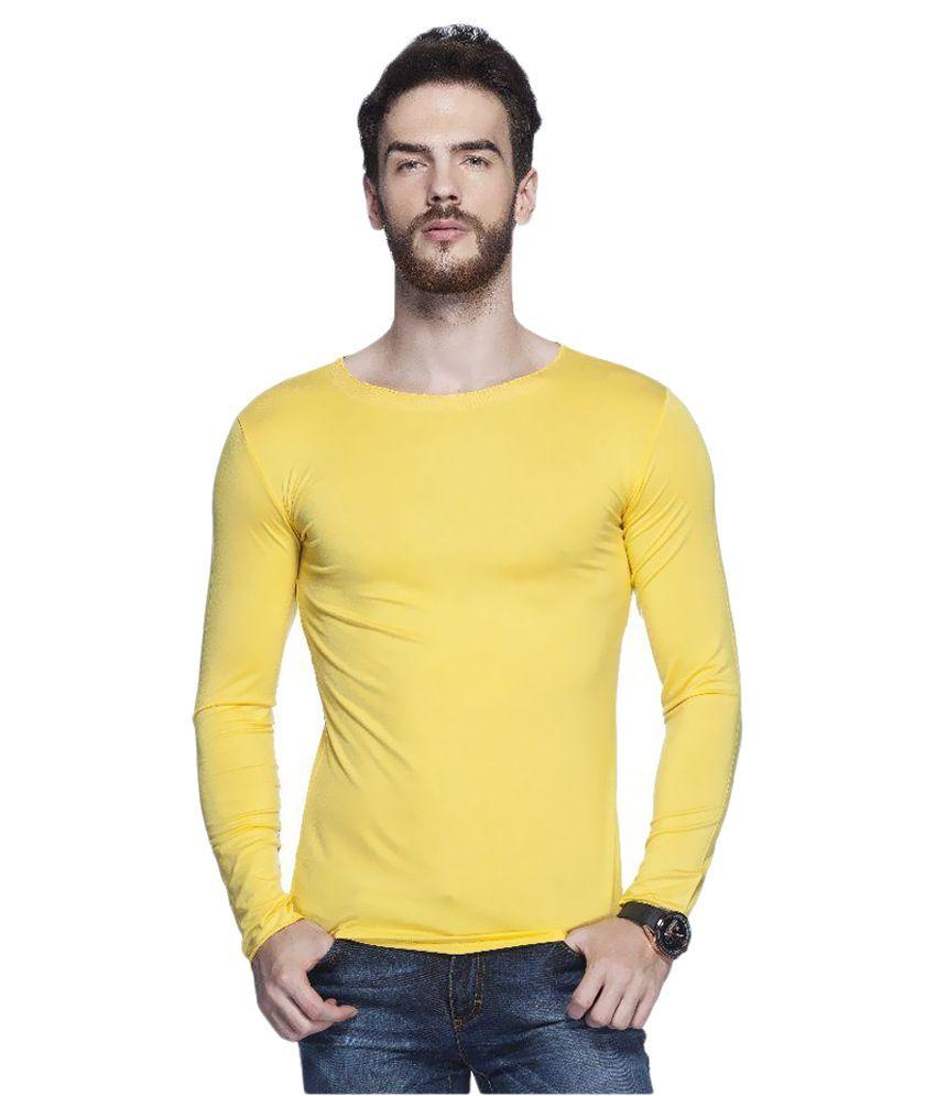 Tinted Yellow Round T-Shirt