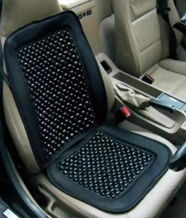 G King Black Wooden Bead Car Seat Cover