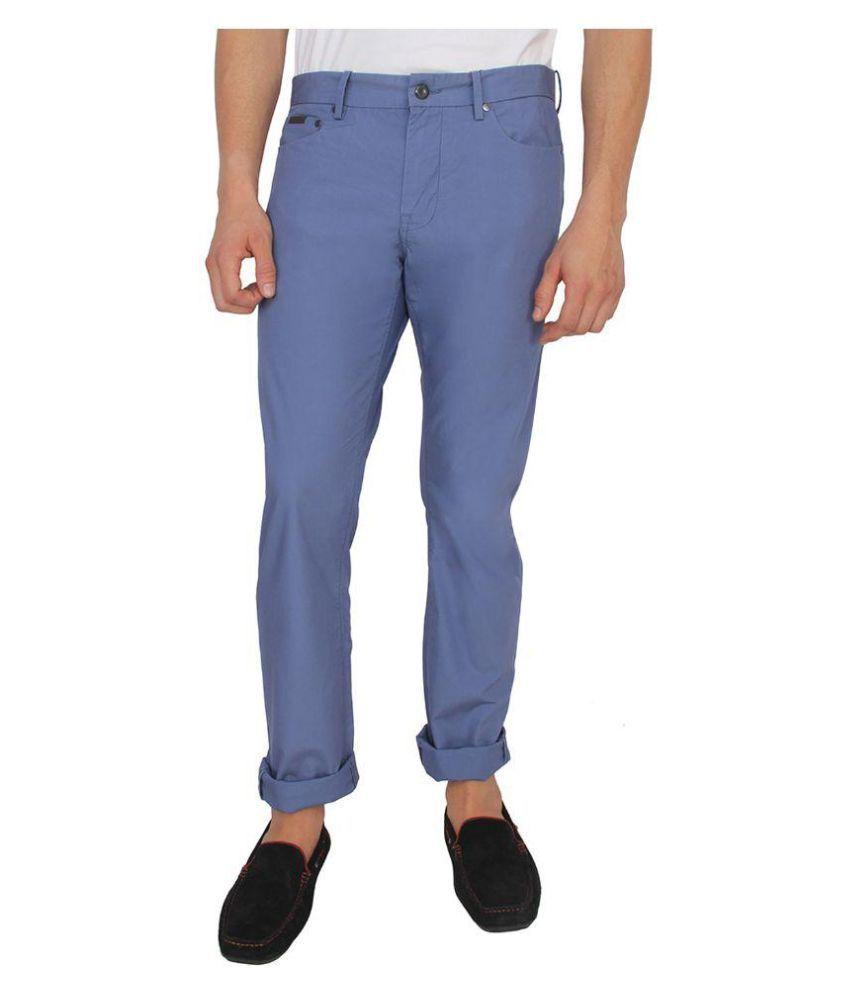 Calvin Klein Navy Blue Slim Solid