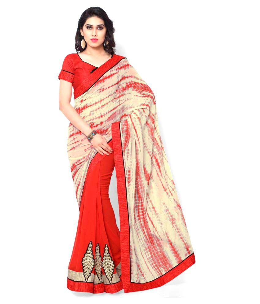 Shri Narayan Fashions Multicoloured Georgette Saree