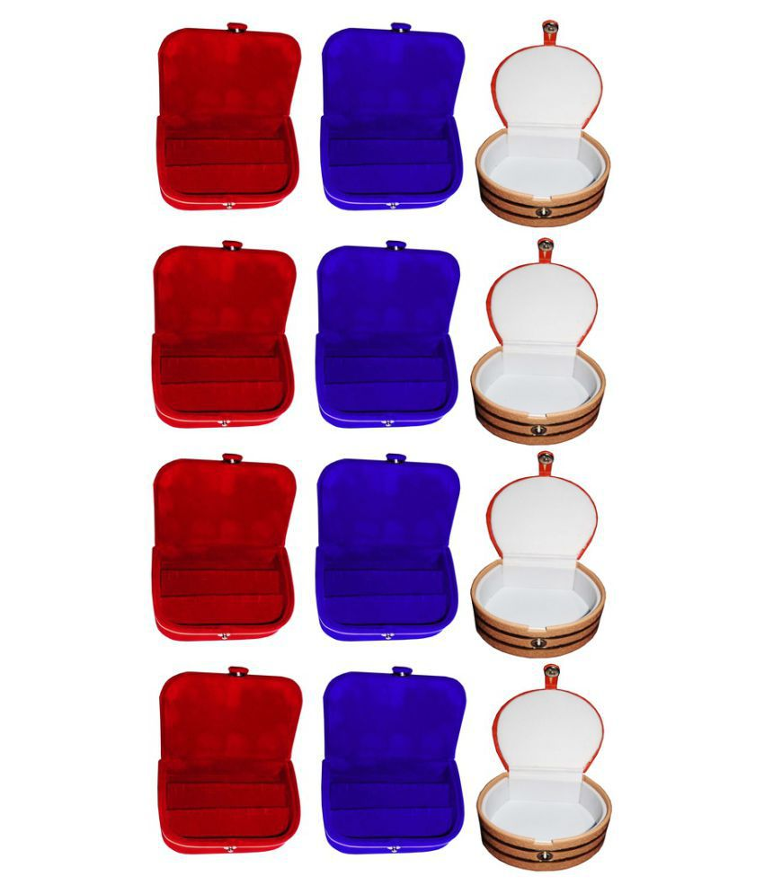 Abhinidi Multicolour Wooden Jewellery Box - Pack of 12