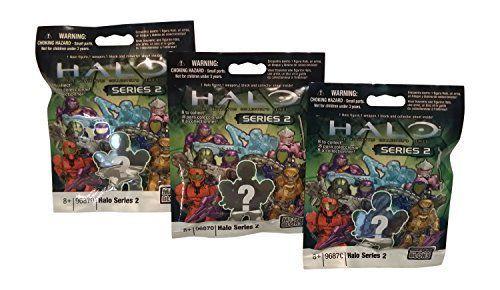 Mega Bloks Halo Bundle - (3 Packs) Halo Heroes Series 2 Action Mini