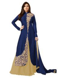 Sitaram Blue Bangalore Silk Anarkali Gown