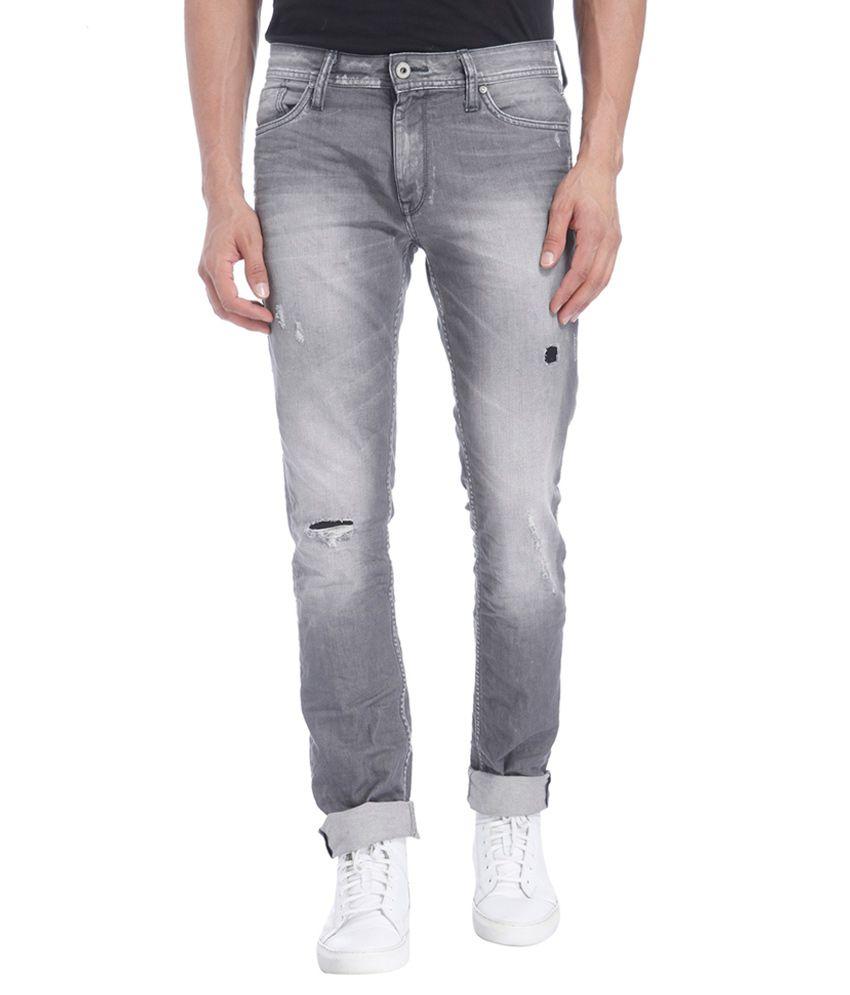 jack jones grey slim fit jeans buy jack jones grey. Black Bedroom Furniture Sets. Home Design Ideas