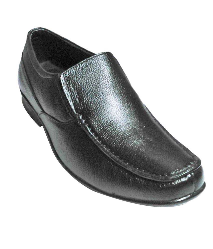 Bata Black Office Genuine Leather Formal Shoes