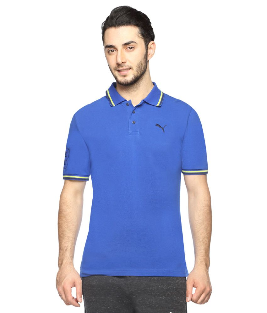 Puma Blue Half Sleeves Polo T-Shirt