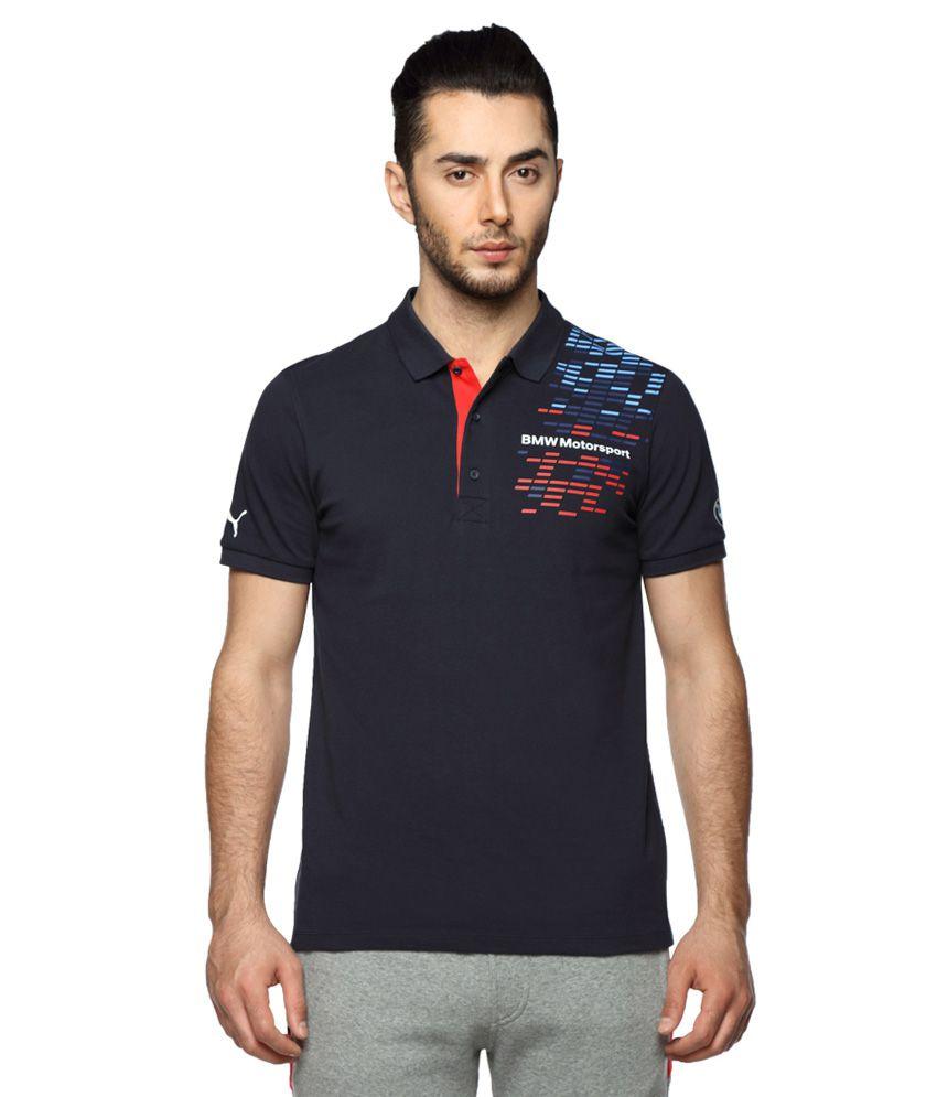 Puma Blue Half Sleeves Polo T-Shirt