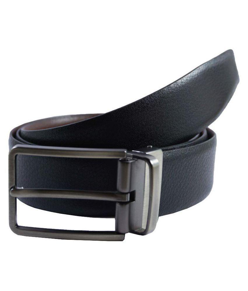Global Leather Black Leather Formal Belts