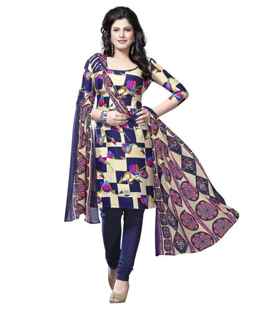 Minu Multicoloured Cotton Pakistani