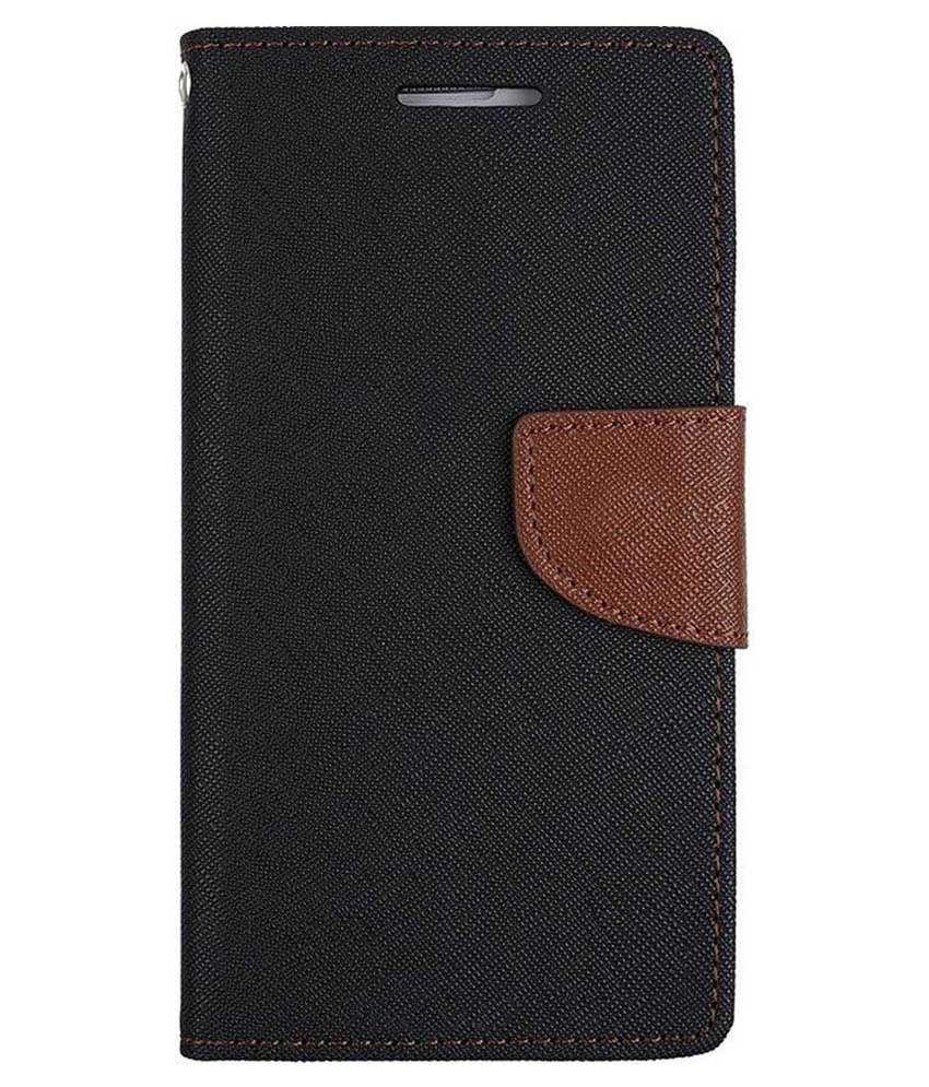 Samsung Galaxy Grand Flip Cover by Kosher Traders - Black