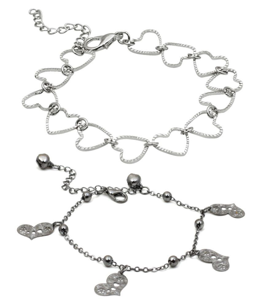 Trend Arrest Silver Bracelets - Pack of 2