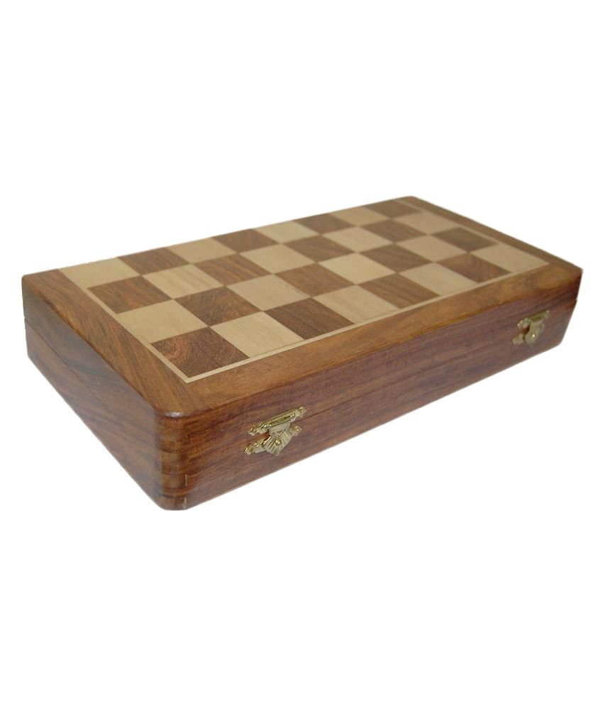 VINR Brown Rose Wood Handcraft Magnatic Wooden Chess Board