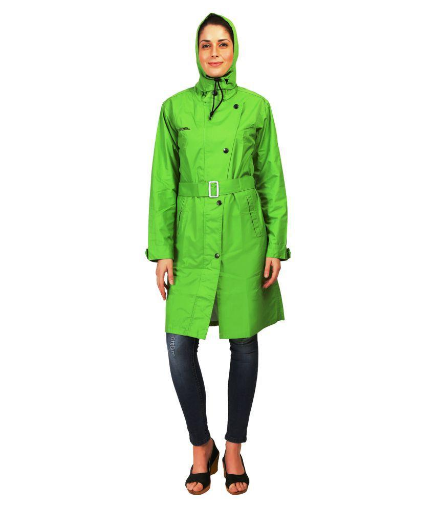 Zeel Green Polyester Short Rainwear