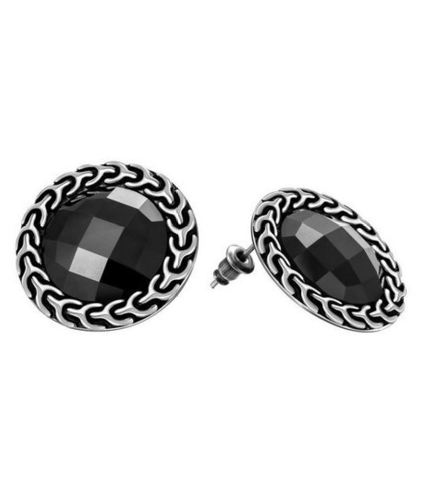 Kiss Jewels Black Earring