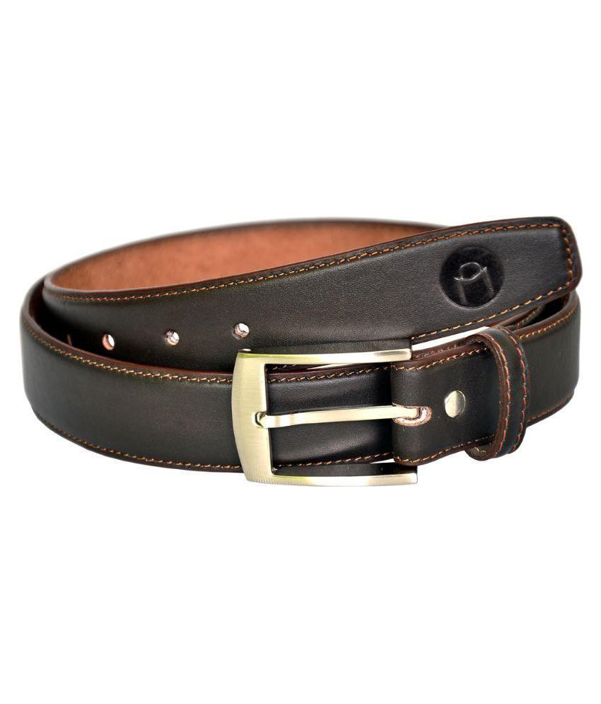 MOSPL Black Leather Formal Belts