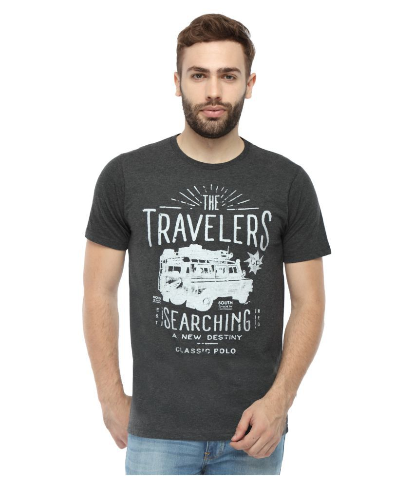 Classic Polo Grey Round T-Shirt