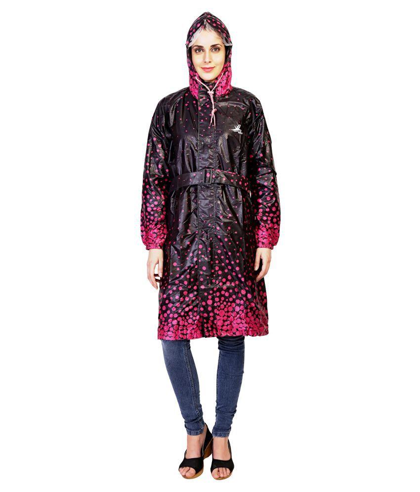 Zeel Multi Color Polyester Long Raincoat