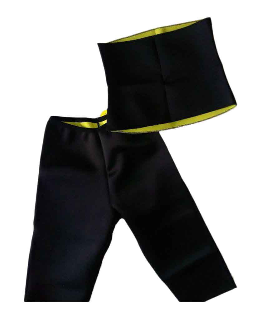 b940a487db Hot Shaper Black Slimming Pant and Belt  Buy Hot Shaper Black Slimming Pant  and Belt at Best Prices in India - Snapdeal