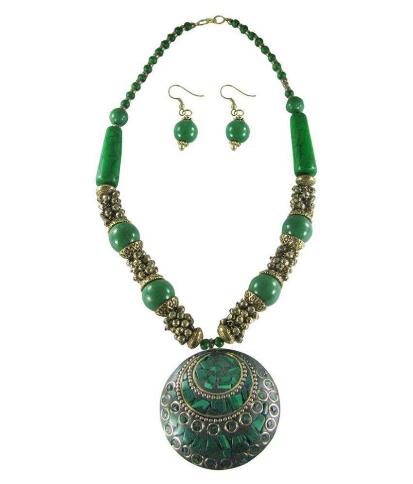 Collana Green Necklace Set