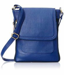Felicita Blue Faux Leather Sling Bag - 621119764974