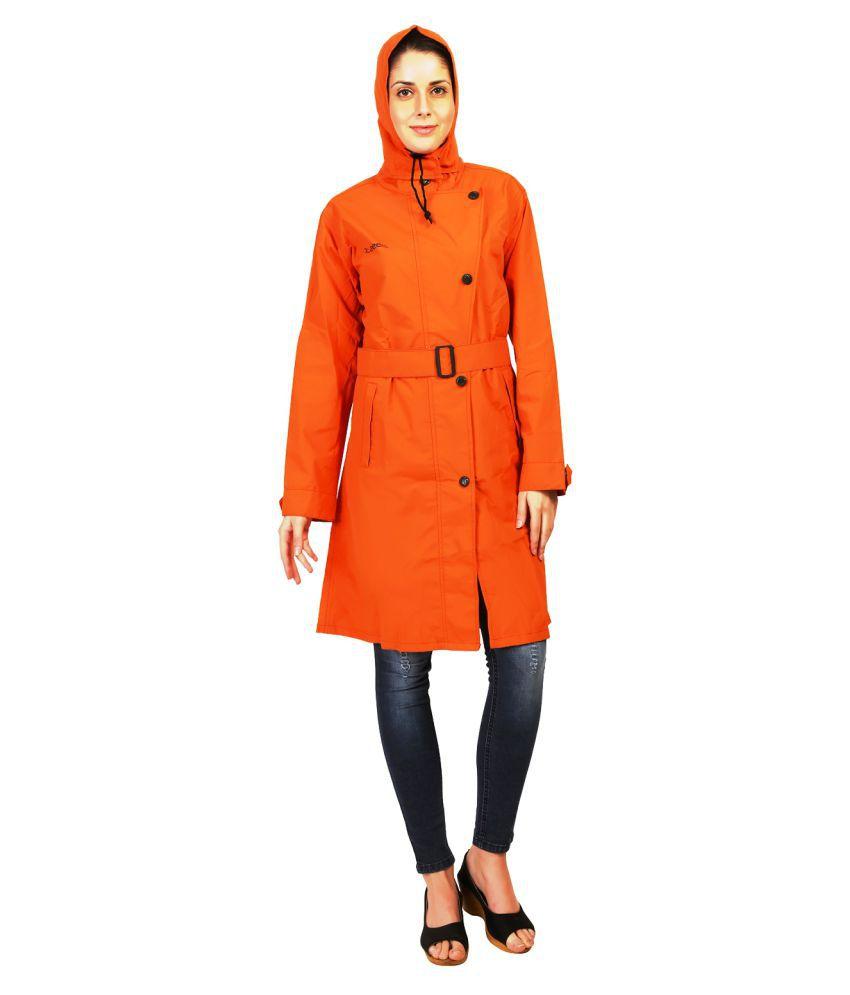 Zeel Orange Polyester Short Rainwear