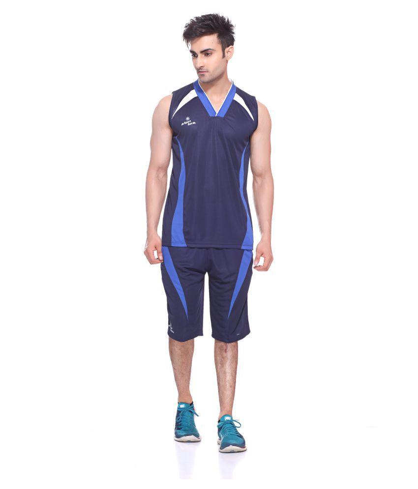 Sport Sun Navy Polyester T-Shirt Single Pack