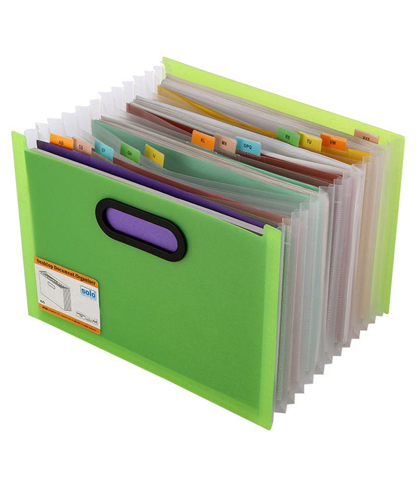 solo green desktop document organizer buy online at best With online document organizer