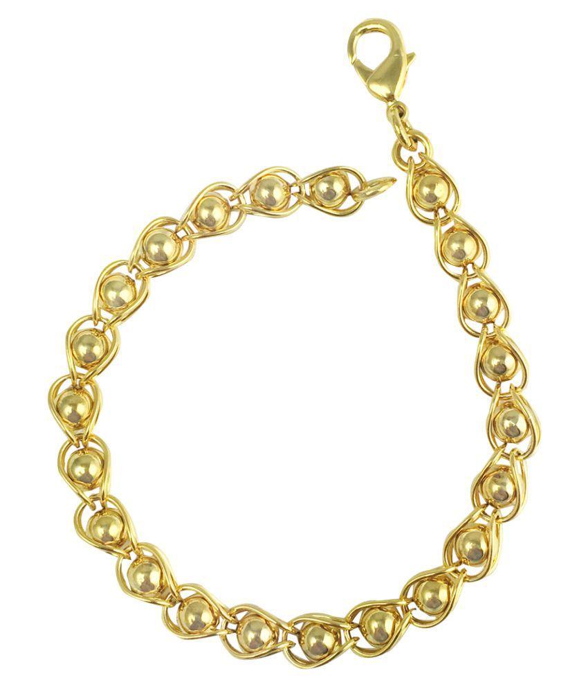 Glitters Online 22 Ct Gold Plated  Ravishing CZ Bracelet for Women