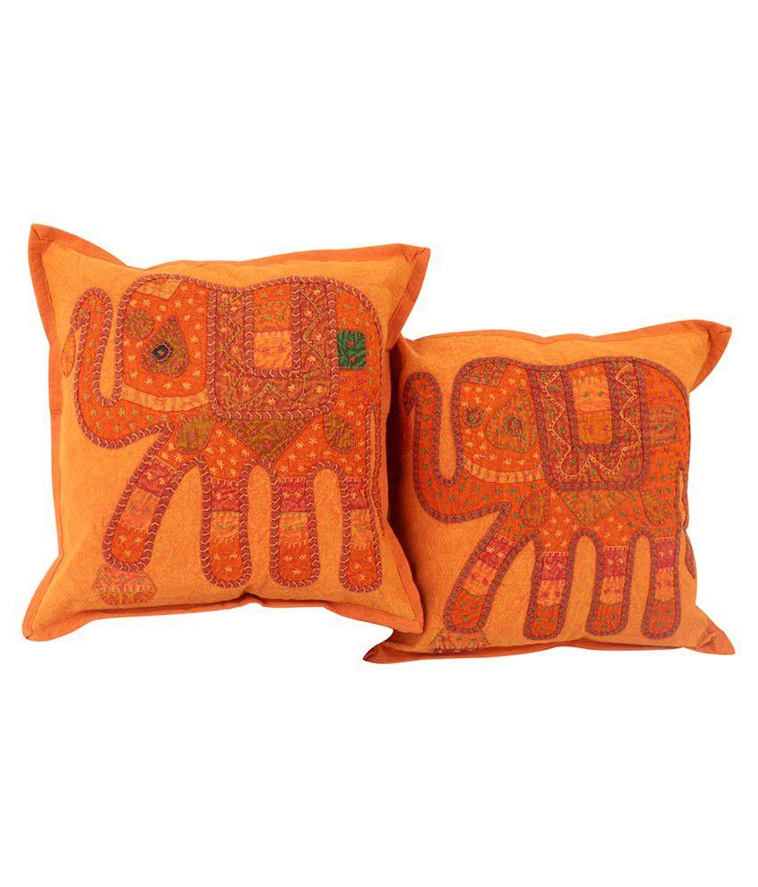 Rajrang Set of 2 Cotton Cushion Covers