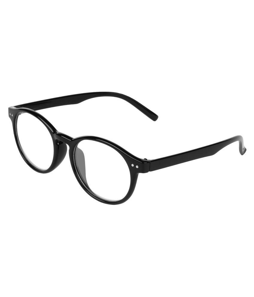 Zyaden Black Round Spectacle Frame fra205