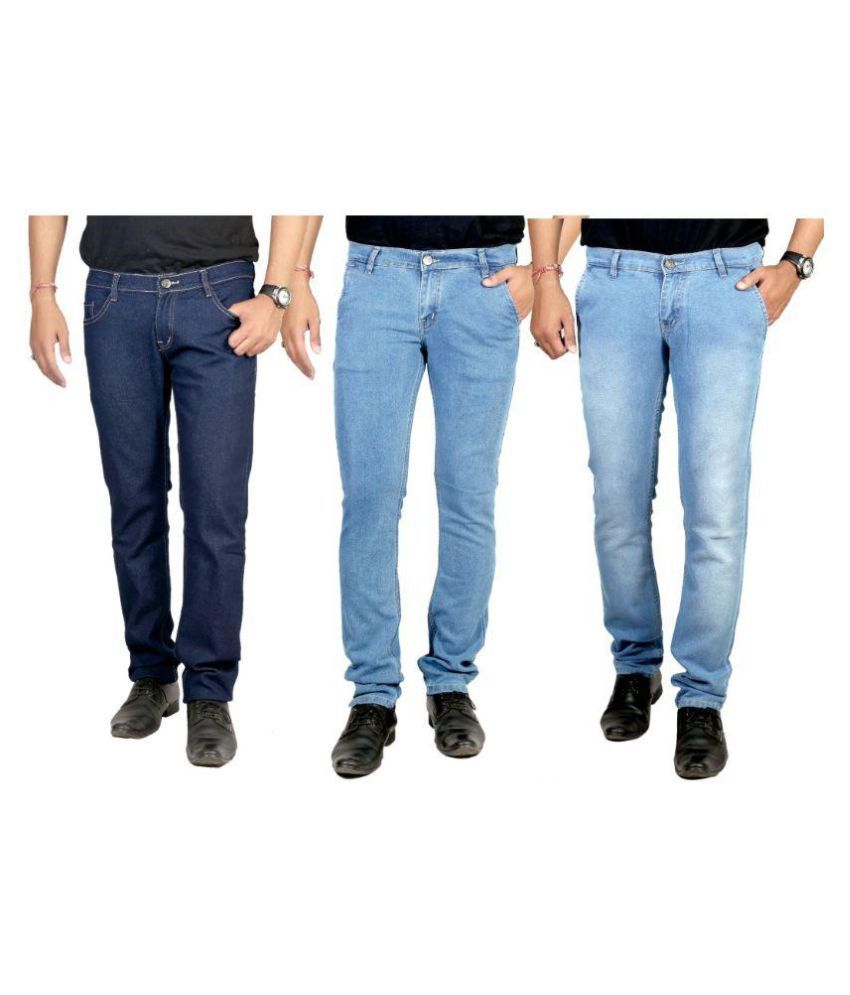 By The Way Multicolored Slim Solid Jeans