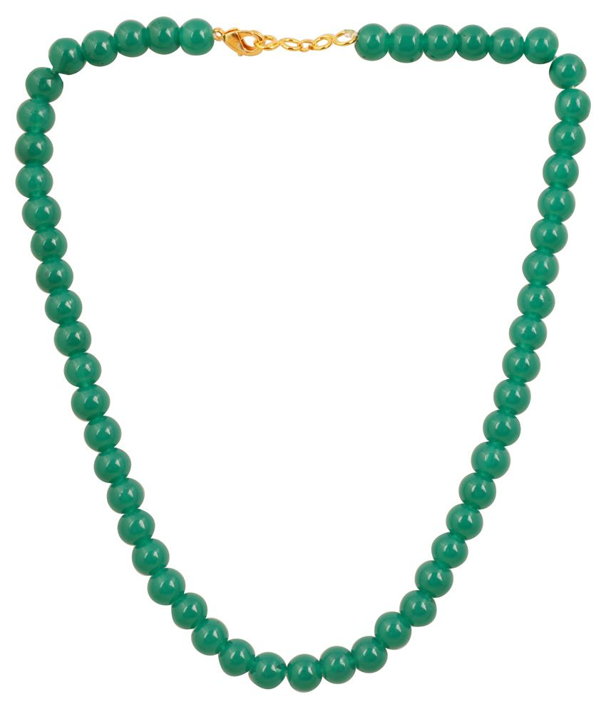 Touchstone Green Glass Necklace
