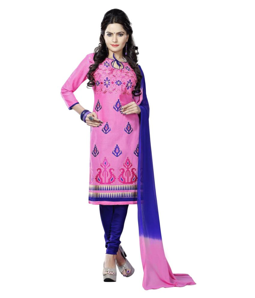 Minu Pink Cotton Straight