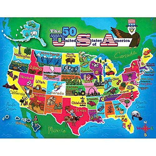 Puzzle Bug Usa Map Puzzle 2 Sided 60 Piece United States ...