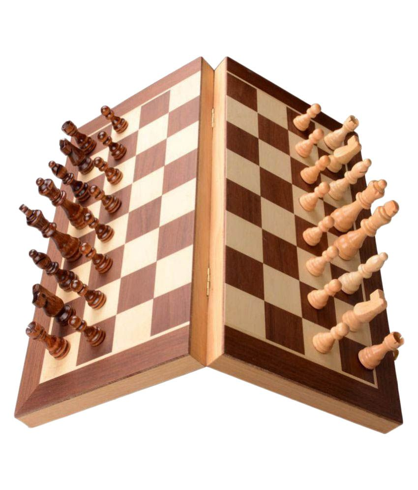 Scrafts 8 inch Engineered Wood Magnetic Chess Board