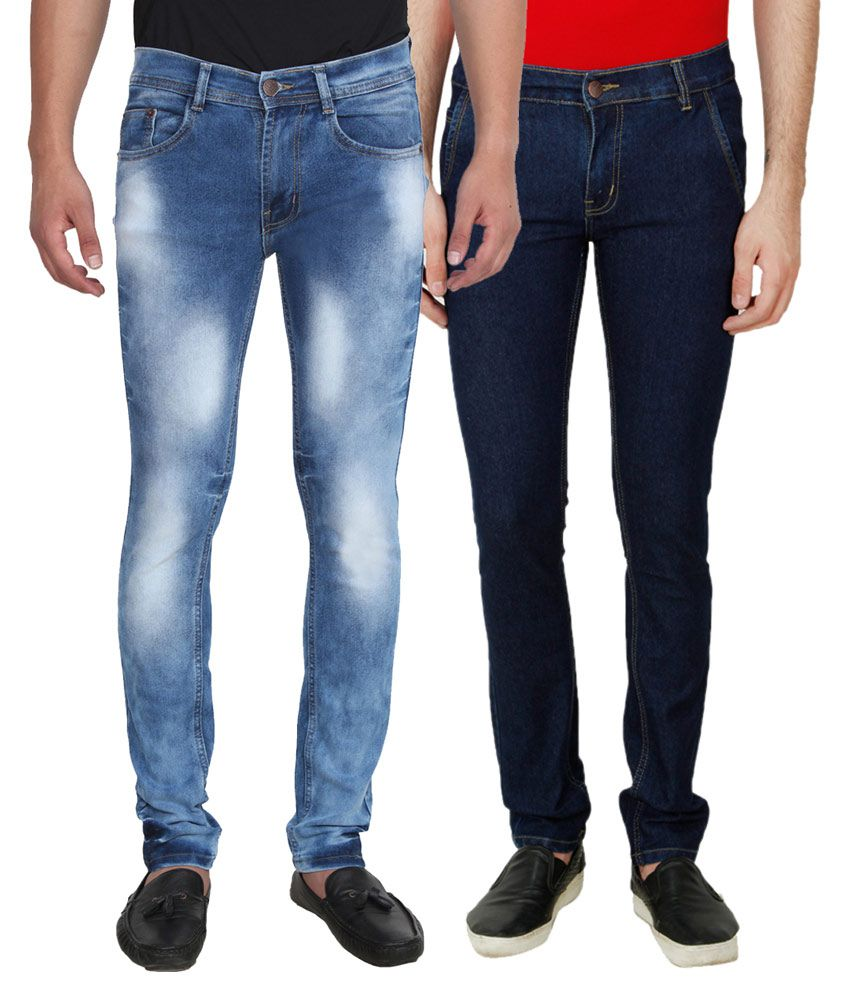 Ansh Fashion Wear Blue Relaxed Solid - Pack of 2